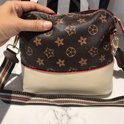 Big prints flower shells classic shoulder bag brown/beige color  $12 Thumbnail