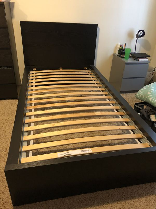 Ikea Malm Twin Bed Frame Furniture In Portland Or Offerup