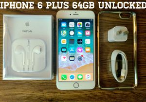 Gold Iphone 6 Plus 64GB UNLOCKED w/ Accessories for Sale in Arlington, VA