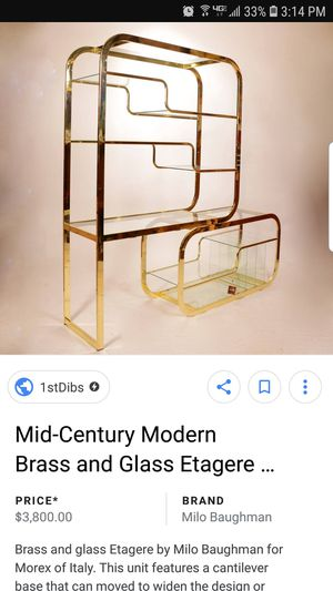 Mid Century Modern Milo Baughman Br And Gl Etagere For In Glendale Az Offerup