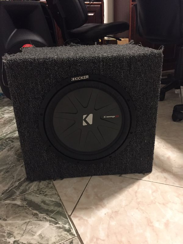 "JBL GTX5OO 750 watt Subwoofer Amplifier with BBox E12SV single 12"" vented  carpeted subwoofer enclosure with Kicker CompRT 43CWRT672 for Sale in Miami"