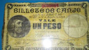 Puerto Rico 1895 paper peso. for Sale in Cleveland, OH