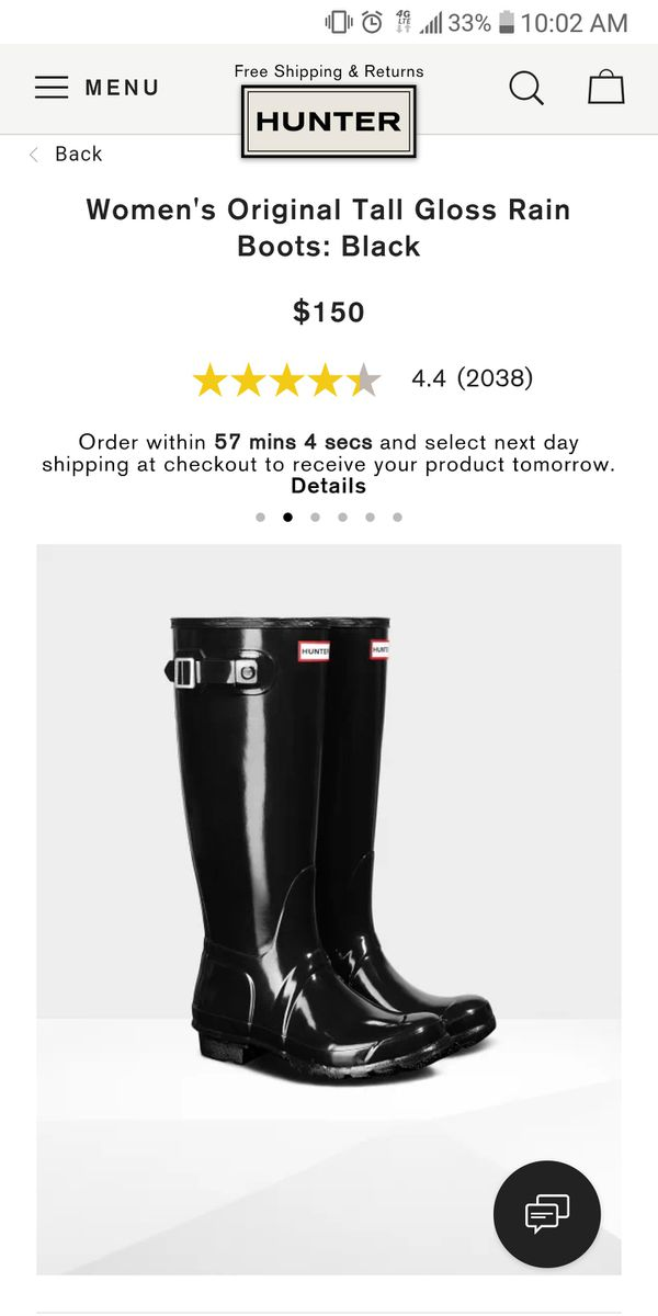 33f2e204d1274 Tall Gloss Hunter Boots (Women s) for Sale in Los Angeles