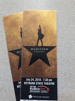 Hamilton Tickets (Pair) for Sale in Cleveland, OH