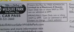 African Wildlife Safari tickets for Sale in Columbus, OH