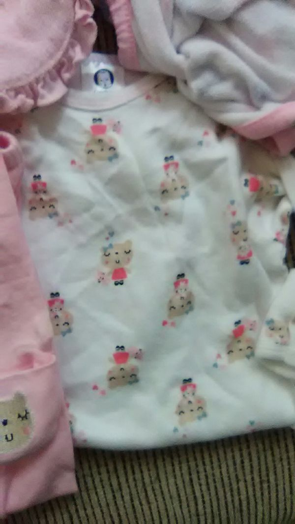 3 baby night gowns with fold in hands to keep baby from scratching ...