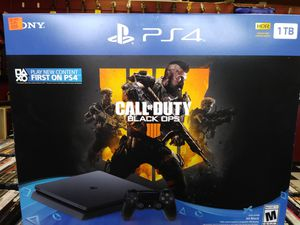 PS4 Slim 1TB With Black Ops 4 for Sale in Alexandria, VA