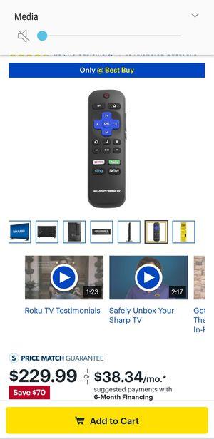 45in 1080p Smart Tv Brand Name Sharp for Sale in Detroit, MI