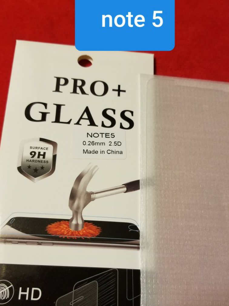 !!!Note 5 Tempered Glass
