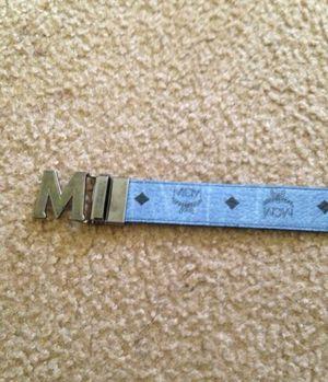 Light blue/ black MCM Belt for Sale in Washington, DC