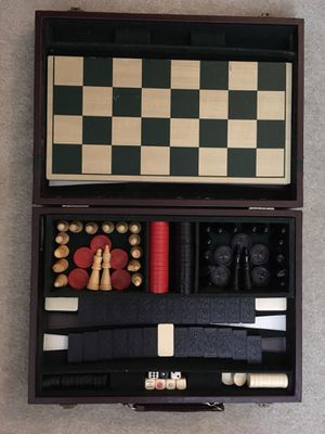 Chess/checker board and brief case for Sale in Chantilly, VA