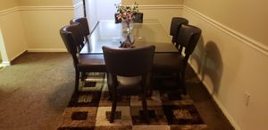 Glass dining table with 6 chairs for Sale in Capitol Heights, MD