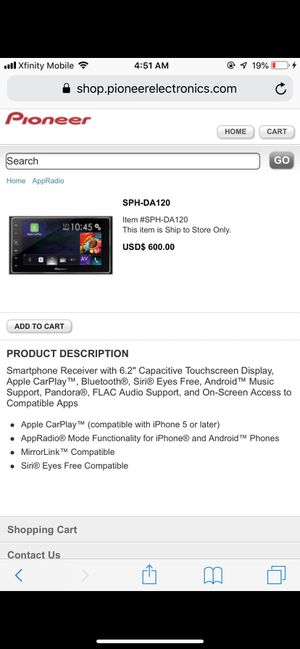 Pioneer car tv system for Sale in Pittsburgh, PA