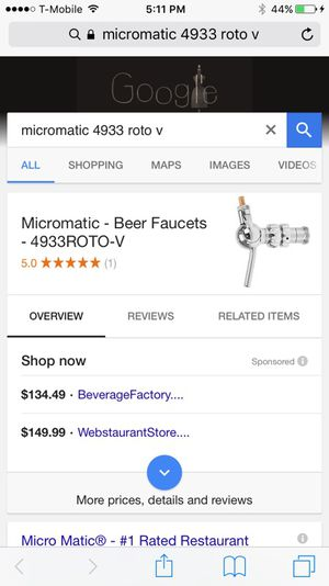 Micromatic adjustable flow beer tap for Sale in Sacramento, CA - OfferUp