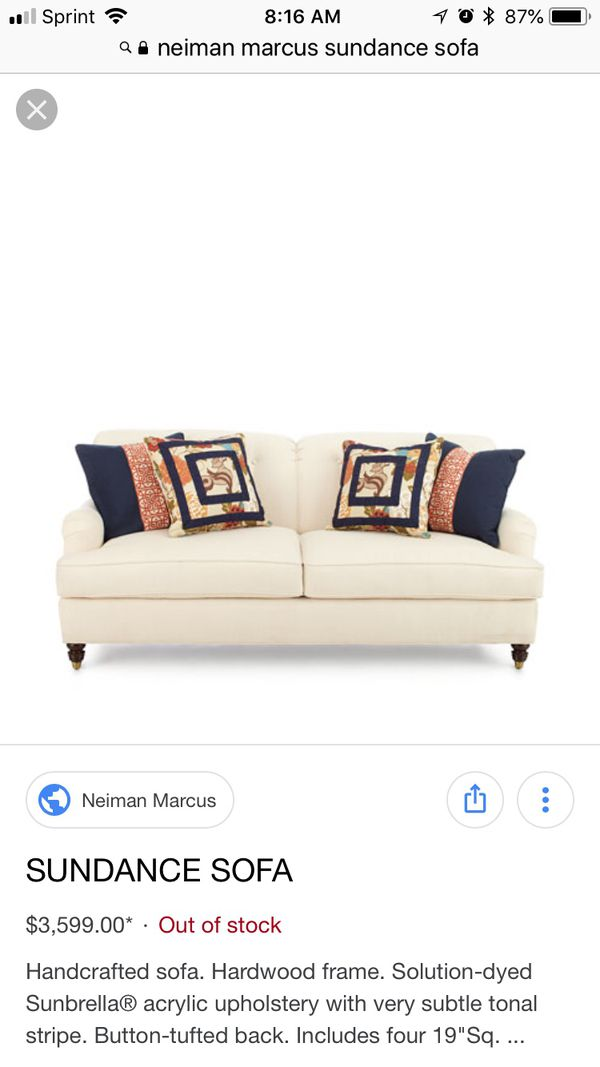 Neiman Marcus Sundance Sofa Off White Furniture In Mundelein Il