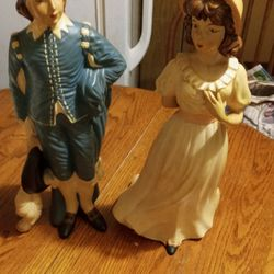blue Boy And Wife Porcelain Figures Thumbnail