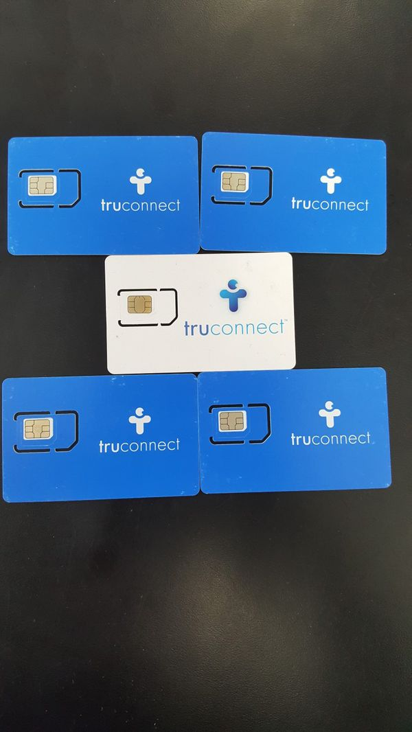 Truconnect sim card compatible with T-Mobile Metro PCS & Sprint free