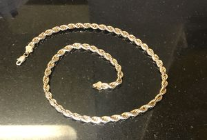14K Gold Italy Gold Chain Rope Necklace for Sale in SeaTac, WA