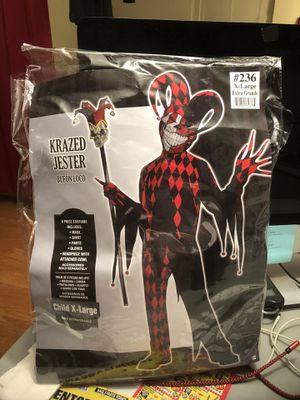 Halloween costume Krazed Jester excellent condition size Child XL. for Sale in Gaithersburg, MD