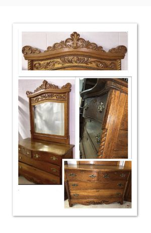 Dresser antique oak for Sale in Mount Airy, MD