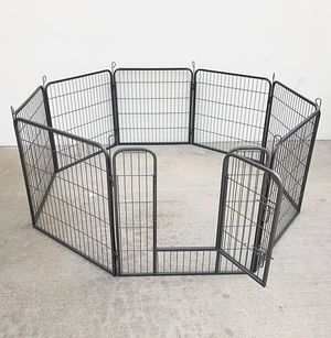 """Photo New $85 Heavy Duty 32"""" Tall x 32"""" Wide x 8-Panel Pet Playpen Dog Crate Kennel Exercise Cage Fence"""