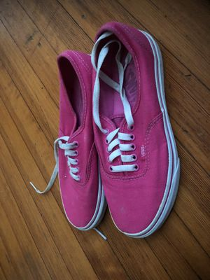 Pinks vans size 8 for Sale in Washington, DC