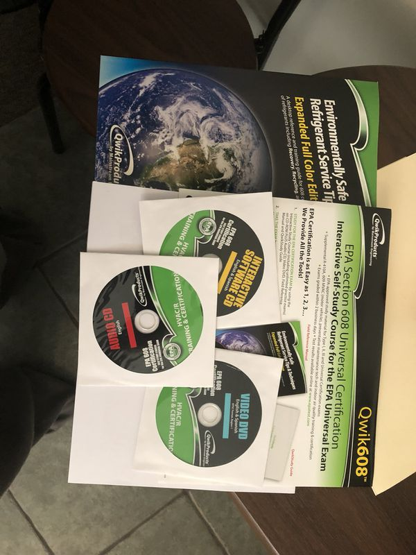 Epa 608 Universal Certification Study Guide 75 For Sale In Seal
