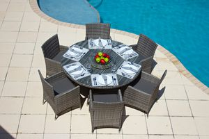 New Outdoor Patio Furniture Round Table w\ 6 Chairs with Cushions for Sale in Miami, FL