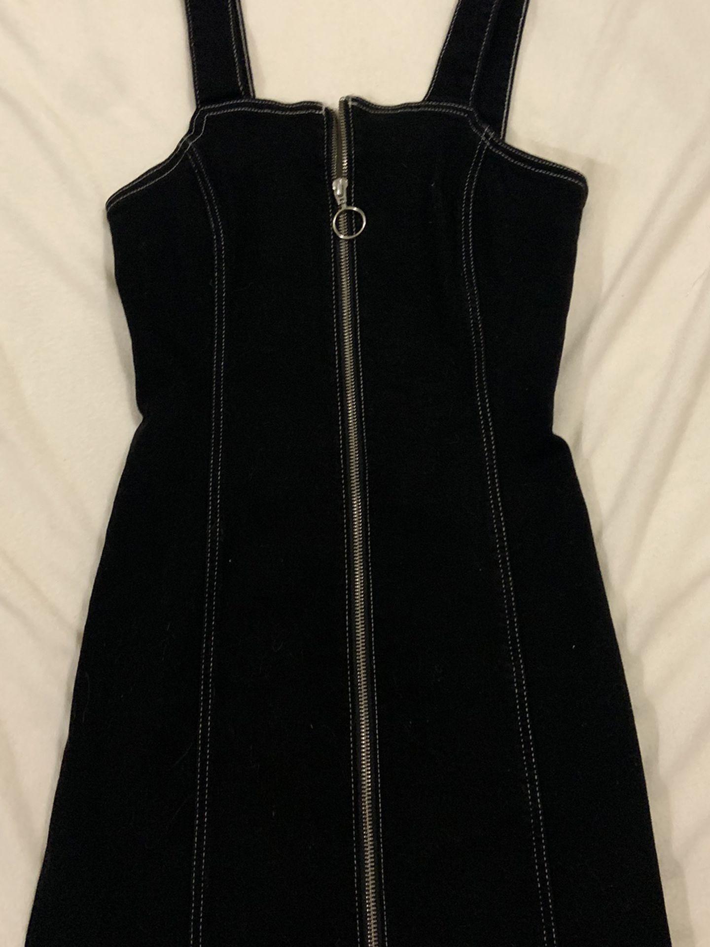 Zip Up Denim Dress