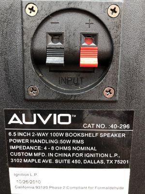 Auvio 6 5 2 Way 100 Watt Bookshelf Speakers For Sale In Richmond Va Offerup