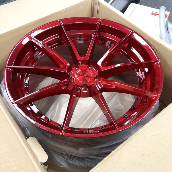 """20"""" Niche Wheels Red Fit Honda Maxima Accord TL And More"""
