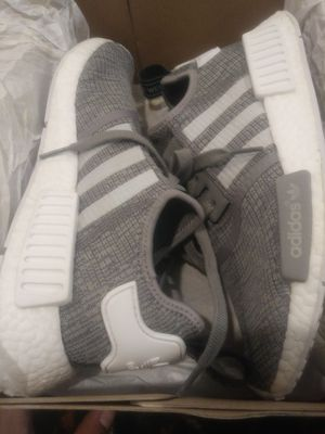 7aeb6535a2424 Adidas nmd R1 grey and white size 8 men for Sale in San Jose