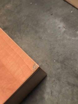 Oak finish storage bench Thumbnail