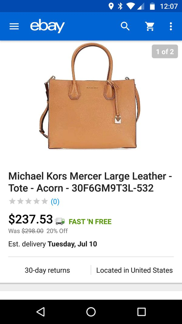 6d4e1db02b7830 Brand New Michael Kors Mercer Large Leather - Tote - Acorn -  30F6GM9T3L-532. Chicago ...