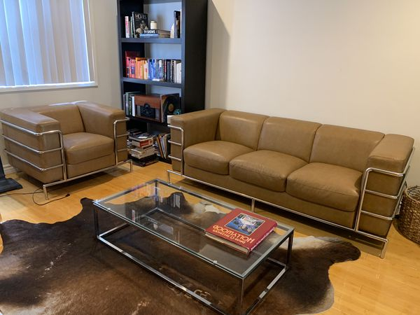 Modern Brown Leather Sofa and Matching Armchairs Set by Diamond Sofa! for  Sale in Playa del Rey, CA - OfferUp