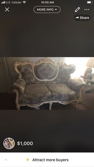 Couch and chair beautiful Victoria antique 150$ for both or 50$ for chair and 100$ for couch for Sale in Inwood, WV
