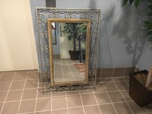 Antique rod iron and bamboo mirror for Sale in San Diego, CA