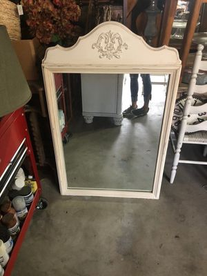 White framed mirror for Sale in Carlsbad, CA