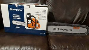 Photo (PRICE IS FIRM) 450e HUSQVARNA CHAIN SAW 20  WITH SMART START