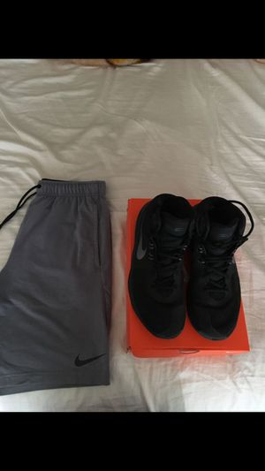 Nike Air Precision basketball shoes and Nike shorts for Sale in Falls Church, VA