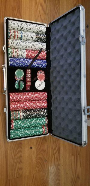 Poker chip set for Sale in Arlington, VA