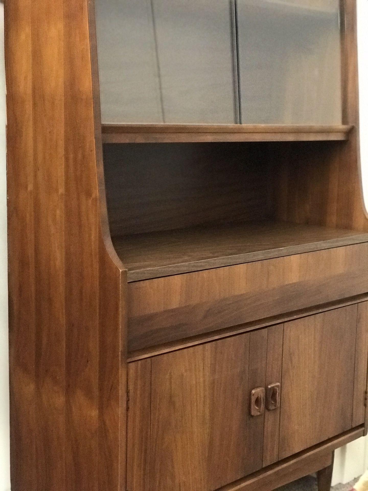 Vintage Mid Century Modern Cabinet Hutch Seattle