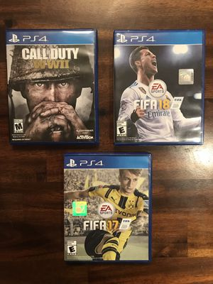 Fifa 18/17 and Call of duty WW2 PS4 for Sale in Vienna, VA