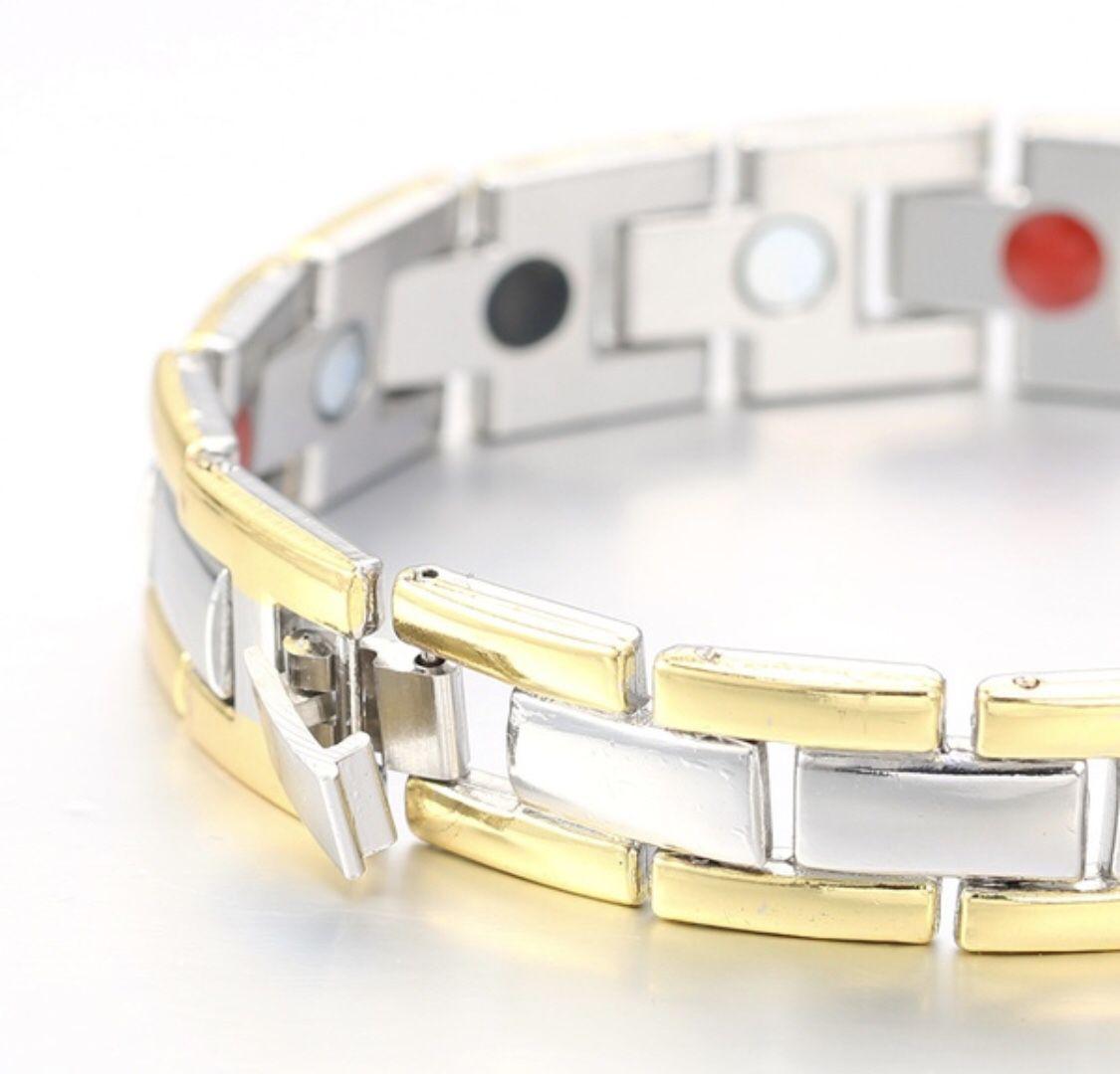 Men's Health Energy Bracelet Bangle 18K Gold Plated Magnetic Bracelet $28 each