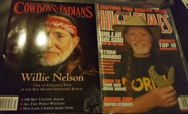 Willie nelson magazine high times Cowboys & indians, atx austin norml 420  for Sale in Waco, TX - OfferUp