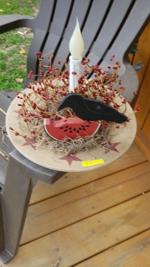 Black crow watermelon wood plate for Sale in Farmville, VA