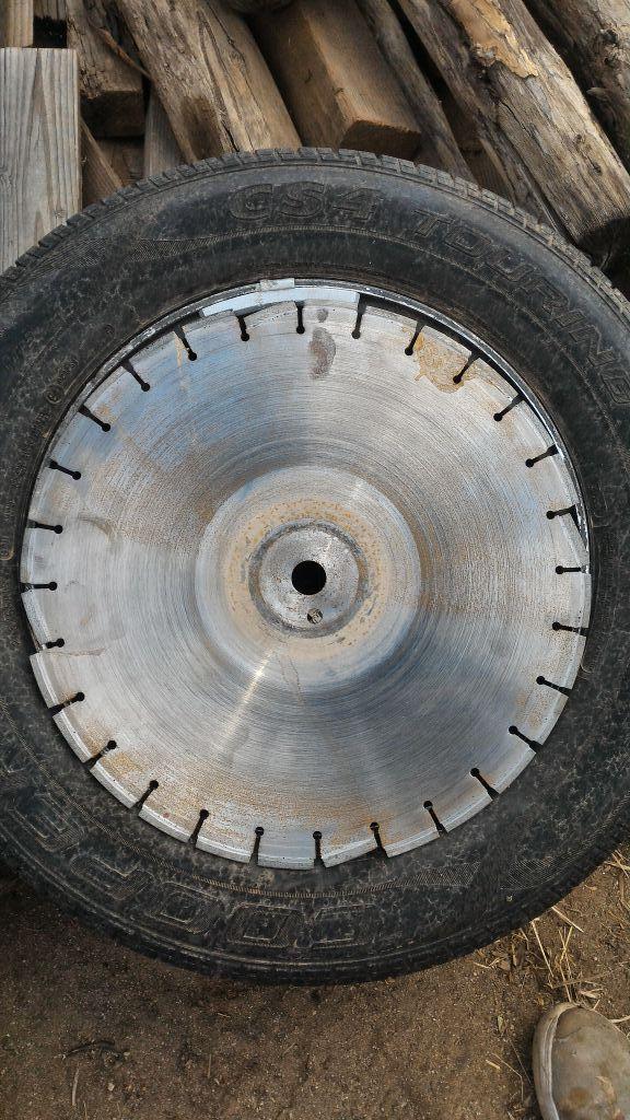 Concrete cutting blade
