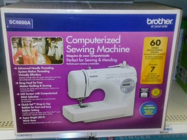 Brothers Model SC40A Brand NIB Computerized Sewing Machine WNIB Interesting Brother Computerized Sewing Machine Sc6600a