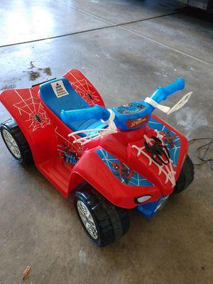 Photo Child's Spiderman Electric 4 wheeler