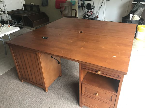 Brilliant Desk And Shelves Pottery Barn Solid Wood For Sale In Lancaster Pa Offerup Beutiful Home Inspiration Ommitmahrainfo